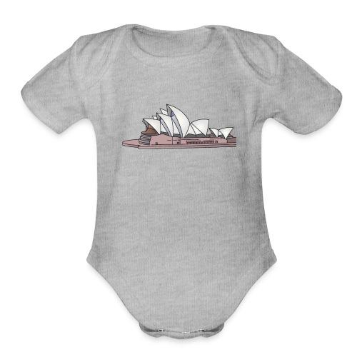 Sydney Opera House - Organic Short Sleeve Baby Bodysuit