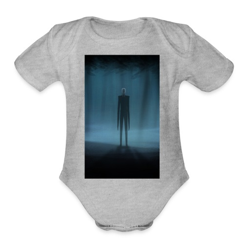 Creepy Forest Person - Organic Short Sleeve Baby Bodysuit