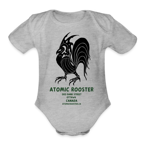AtomicRooster Tshirt - Organic Short Sleeve Baby Bodysuit