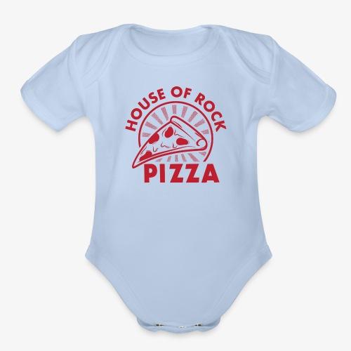 HOR Pizza Red - Organic Short Sleeve Baby Bodysuit