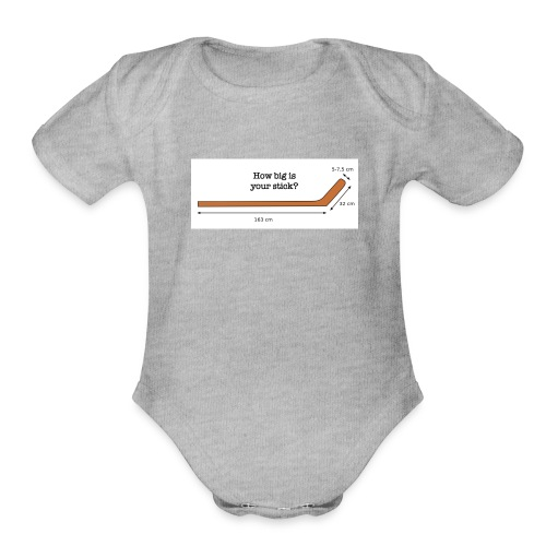 Hockey Stick - Organic Short Sleeve Baby Bodysuit