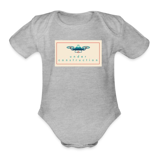 under construction - Organic Short Sleeve Baby Bodysuit