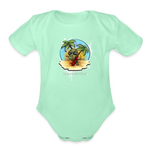 let's have a safe surf home - Organic Short Sleeve Baby Bodysuit