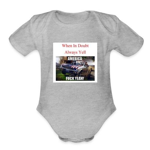 When In Doubt - Organic Short Sleeve Baby Bodysuit