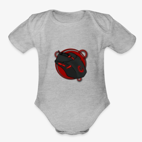 Mouse Gamer - Organic Short Sleeve Baby Bodysuit