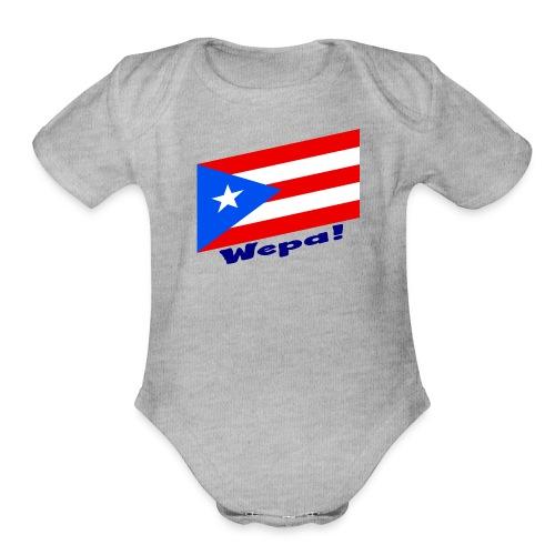 Puerto Rico - Wepa! - Organic Short Sleeve Baby Bodysuit