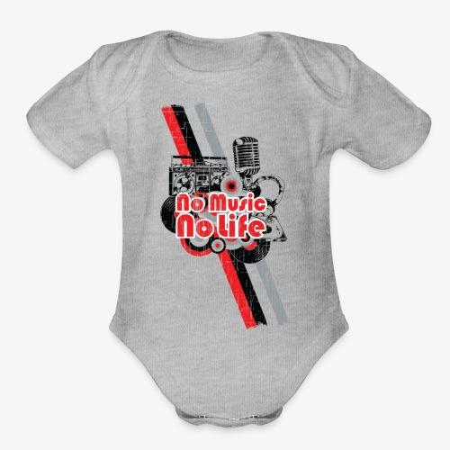 NO MUSIC - Organic Short Sleeve Baby Bodysuit