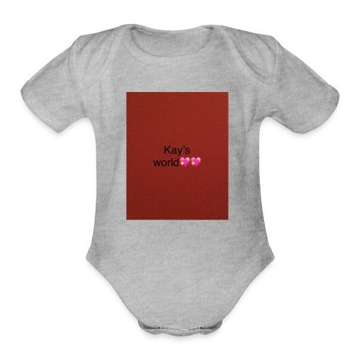 Kay's world - Organic Short Sleeve Baby Bodysuit