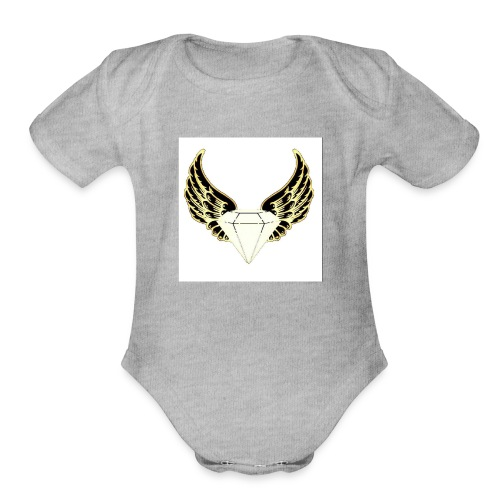 black and yellow glo edition - Organic Short Sleeve Baby Bodysuit