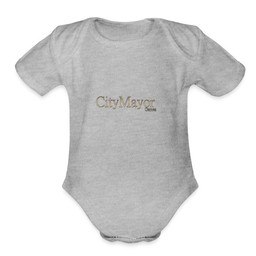 CityMayor Games Logo - Organic Short Sleeve Baby Bodysuit