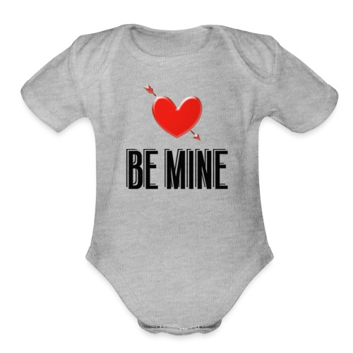 Be Mine - Organic Short Sleeve Baby Bodysuit