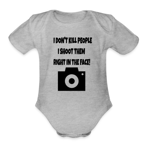 right in the face - Organic Short Sleeve Baby Bodysuit