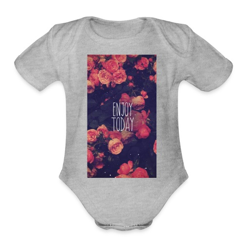How's your day? - Organic Short Sleeve Baby Bodysuit