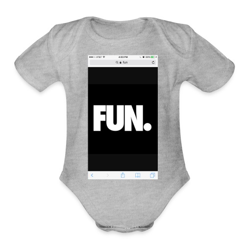 014Kadin fun - Organic Short Sleeve Baby Bodysuit