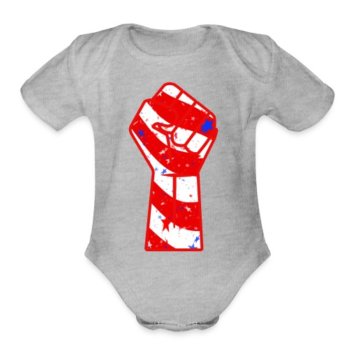 4th of July spreed shirt the independence day red - Organic Short Sleeve Baby Bodysuit