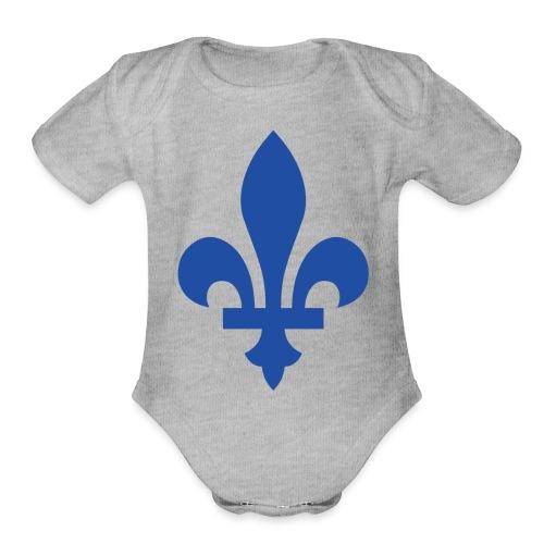 2000px Blue fleur de lis2 png - Organic Short Sleeve Baby Bodysuit