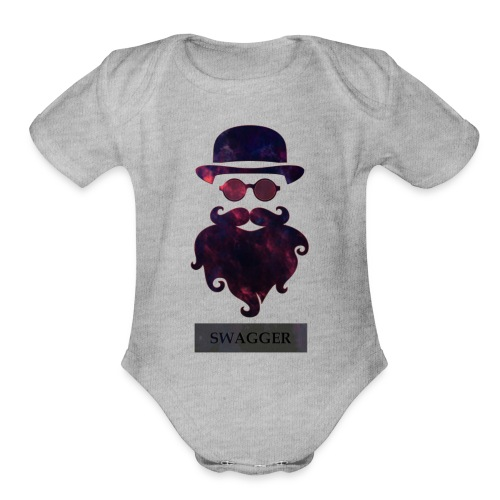 SWAGGER- Beard Swagg - Organic Short Sleeve Baby Bodysuit