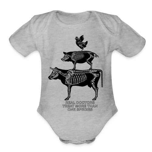Real Doctors ... Large - Organic Short Sleeve Baby Bodysuit