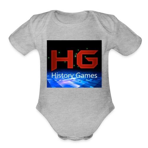 Nuevo logo History Games - Organic Short Sleeve Baby Bodysuit