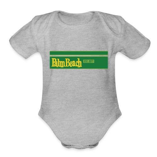 PalmBeach est1977 - Organic Short Sleeve Baby Bodysuit