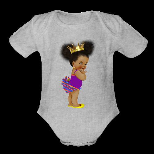 RPAfricanPrincess5-AfroPuffs - Organic Short Sleeve Baby Bodysuit