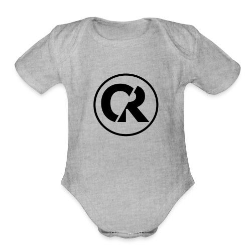 Quantum Red -Blackout- - Organic Short Sleeve Baby Bodysuit