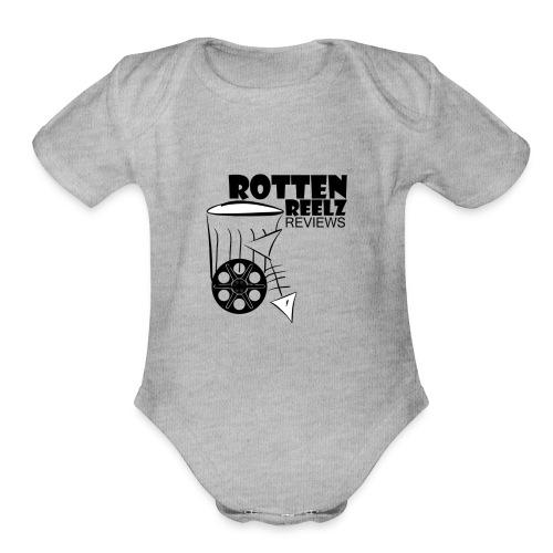 Rotten Reelz Logo - Organic Short Sleeve Baby Bodysuit