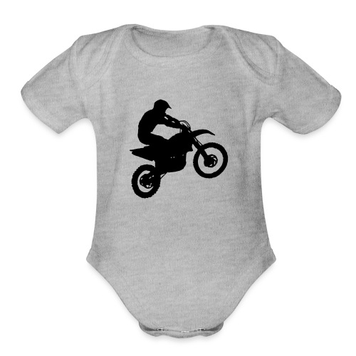 Motocross Dirt biker - Organic Short Sleeve Baby Bodysuit