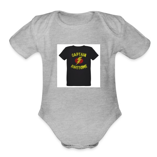 Captain awesome - Organic Short Sleeve Baby Bodysuit