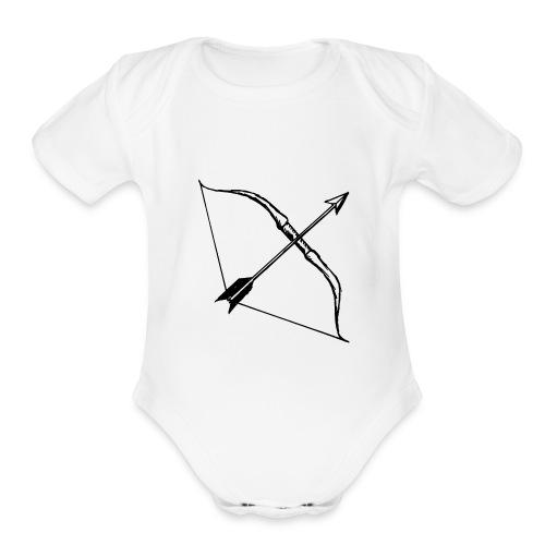 bow and arrow 3 - Organic Short Sleeve Baby Bodysuit