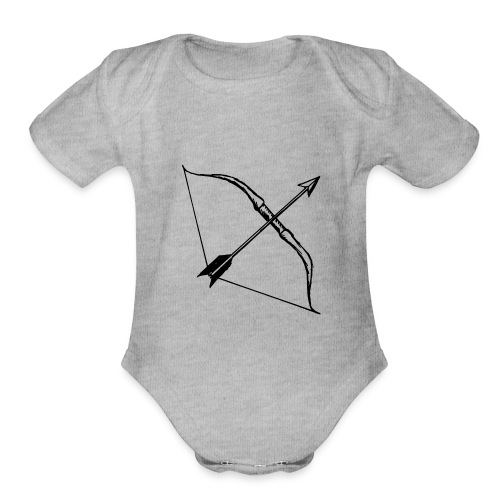 bow and arrow 3 - Organic Short Sleeve Baby Bodysuit