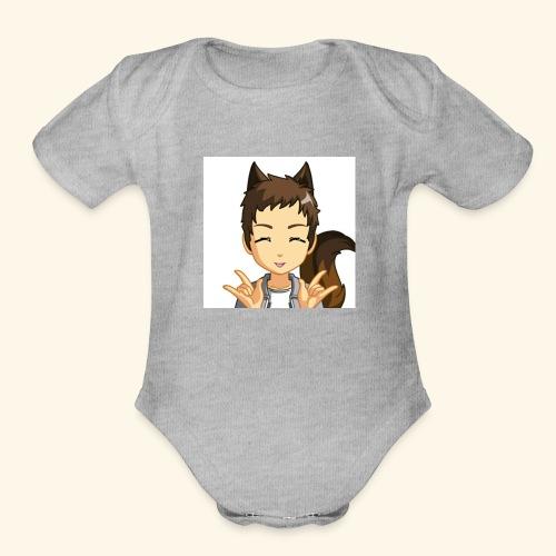 I'm a furry - Organic Short Sleeve Baby Bodysuit