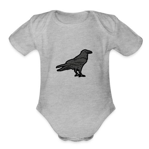Raven's Nest Emblem - Organic Short Sleeve Baby Bodysuit