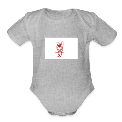 captins3 design - Organic Short Sleeve Baby Bodysuit