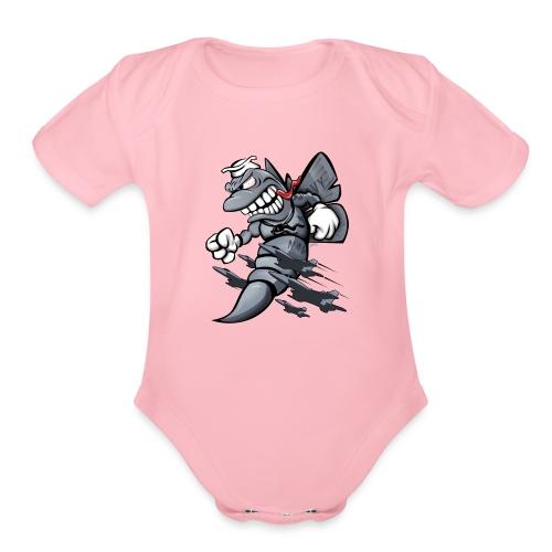 F/A-18 Hornet Fighter Attack Military Jet Cartoon - Organic Short Sleeve Baby Bodysuit