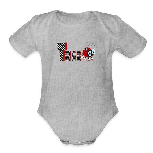 3nd Year Family Ladybug T-Shirts Gifts Daughter - Organic Short Sleeve Baby Bodysuit