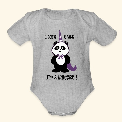 Limited Edition T-Shirt : PandaCorn - Organic Short Sleeve Baby Bodysuit