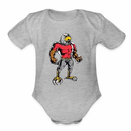 EagleStandingNeoClassic - Organic Short Sleeve Baby Bodysuit