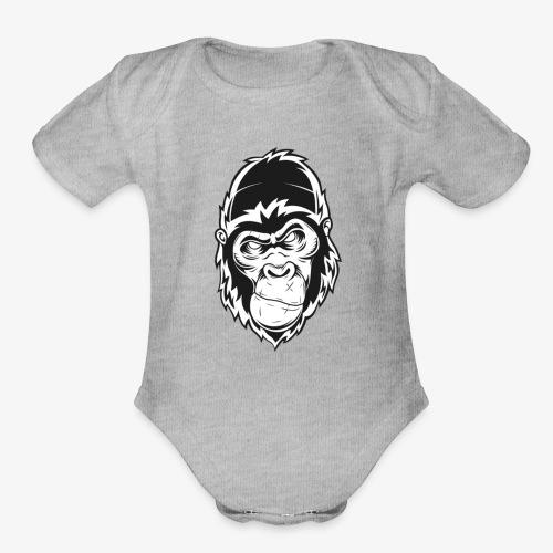 Gorilla - Organic Short Sleeve Baby Bodysuit