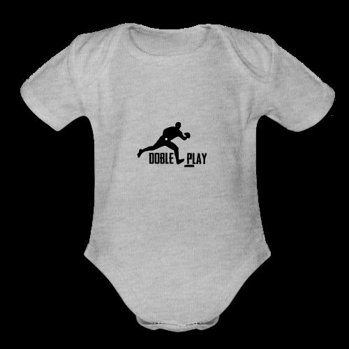 doble play - Organic Short Sleeve Baby Bodysuit