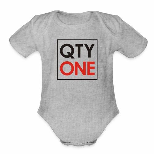 QTYONE Logo - Organic Short Sleeve Baby Bodysuit