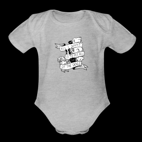DOGS - Organic Short Sleeve Baby Bodysuit
