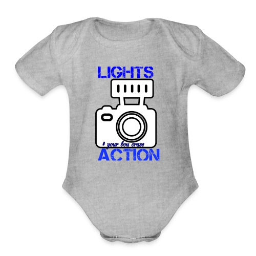 THE LIGHT IS ONE YOU - Organic Short Sleeve Baby Bodysuit