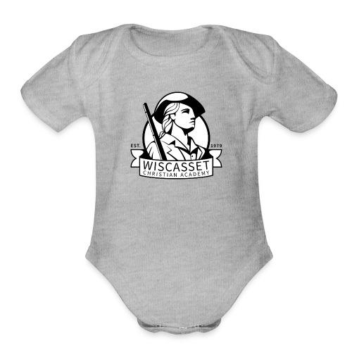 WCA Logo banner black line white fill - Organic Short Sleeve Baby Bodysuit