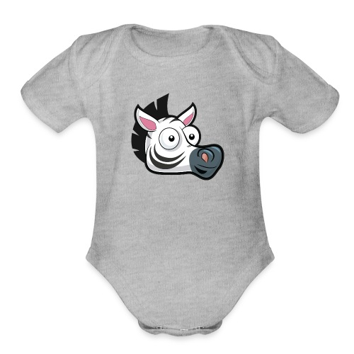 AppZebra Logo - Organic Short Sleeve Baby Bodysuit