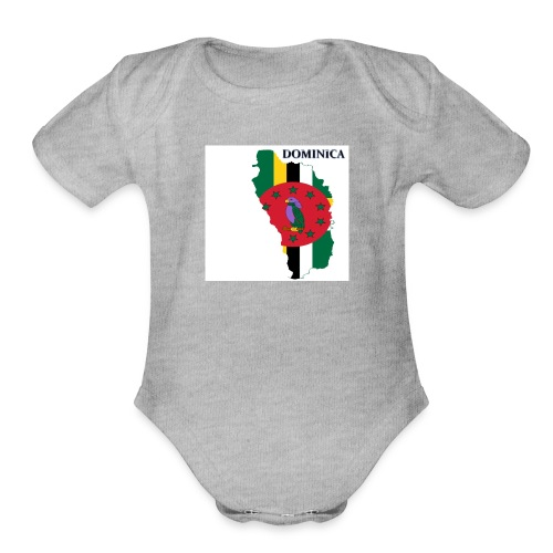 DOMINICA Flag - Organic Short Sleeve Baby Bodysuit