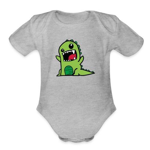 Dinosaurs - Organic Short Sleeve Baby Bodysuit