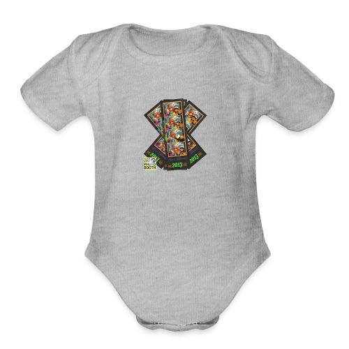 Photo Strip Shirt - Organic Short Sleeve Baby Bodysuit