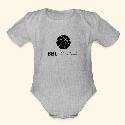 Brothers Basketball design - Organic Short Sleeve Baby Bodysuit