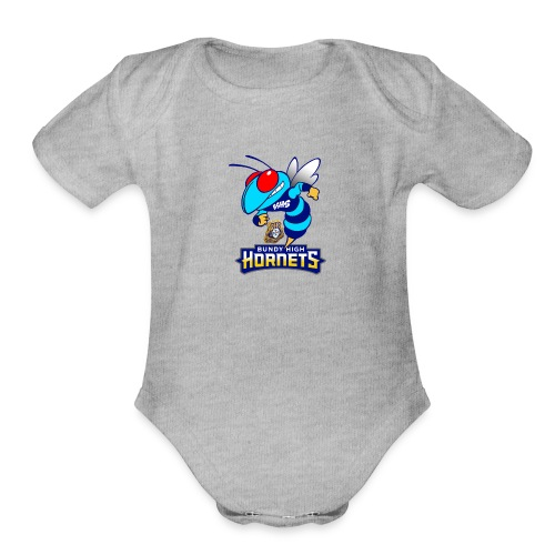 Hornets FINAL - Organic Short Sleeve Baby Bodysuit